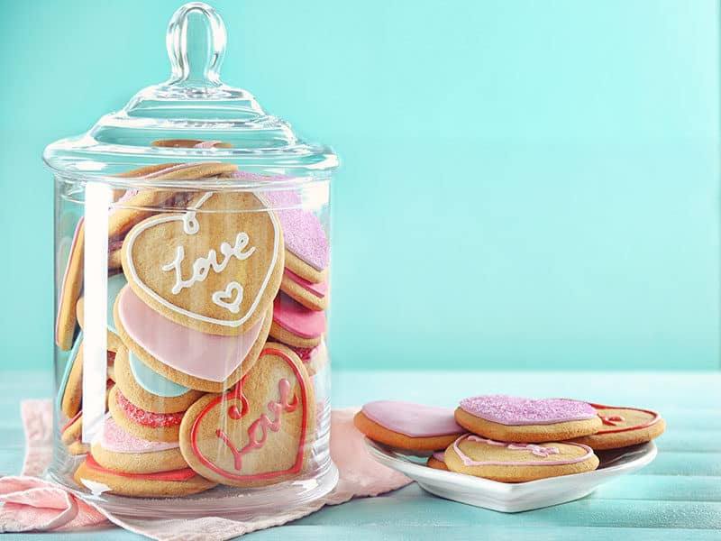 Love Cookies Jar on Blue