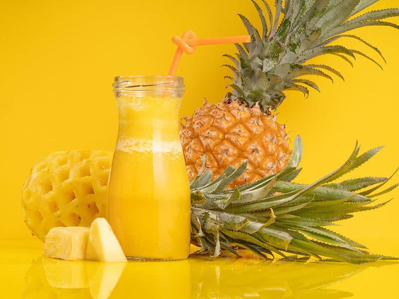 Pineapple Juice on Solid