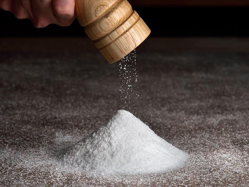 Salt Falls Grinder on Table Full