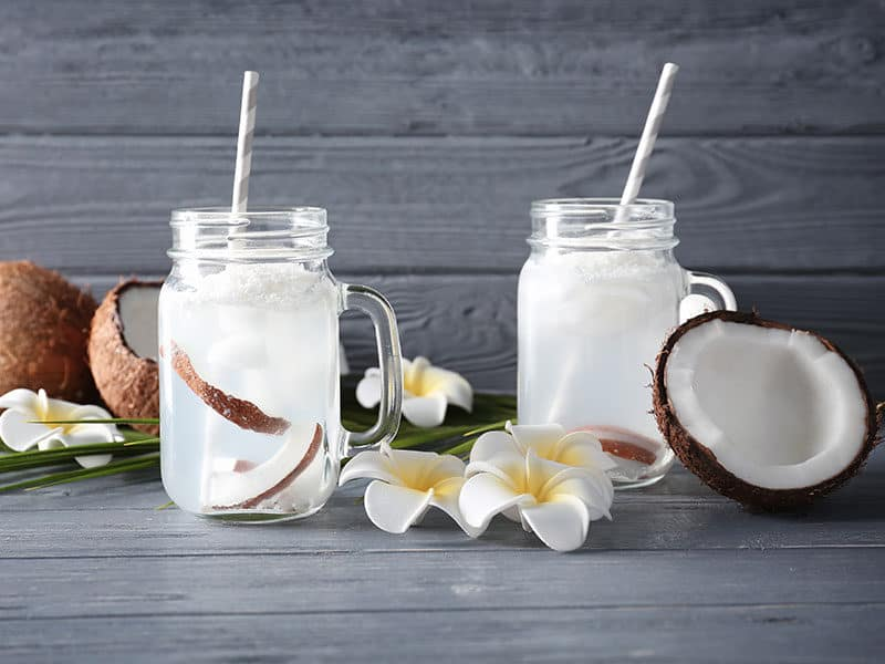 Coconut Water on Table