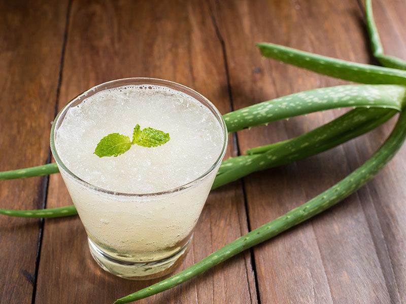 Glass Aloe Vera Juice