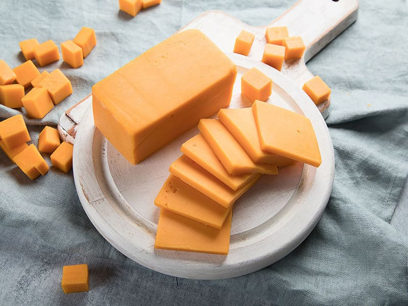 Cheddar Cheese on Wooden
