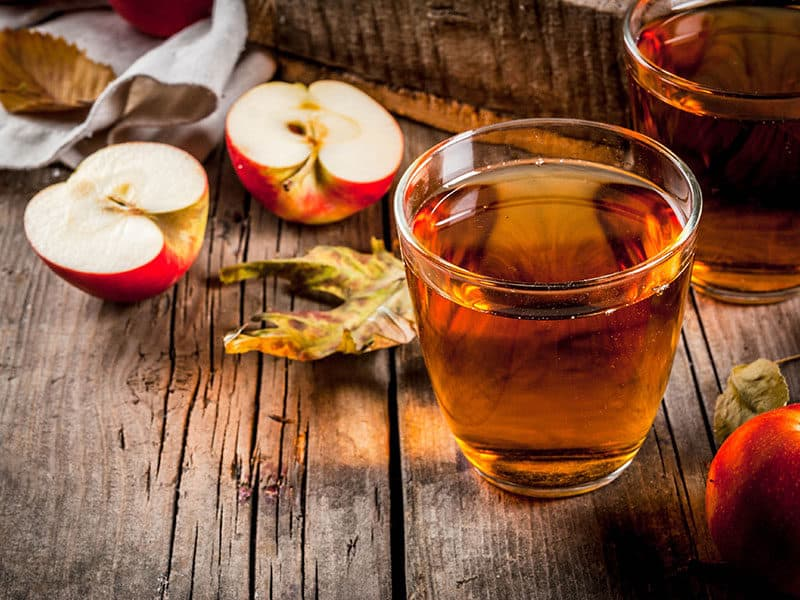 Glass Jar Apple Juice