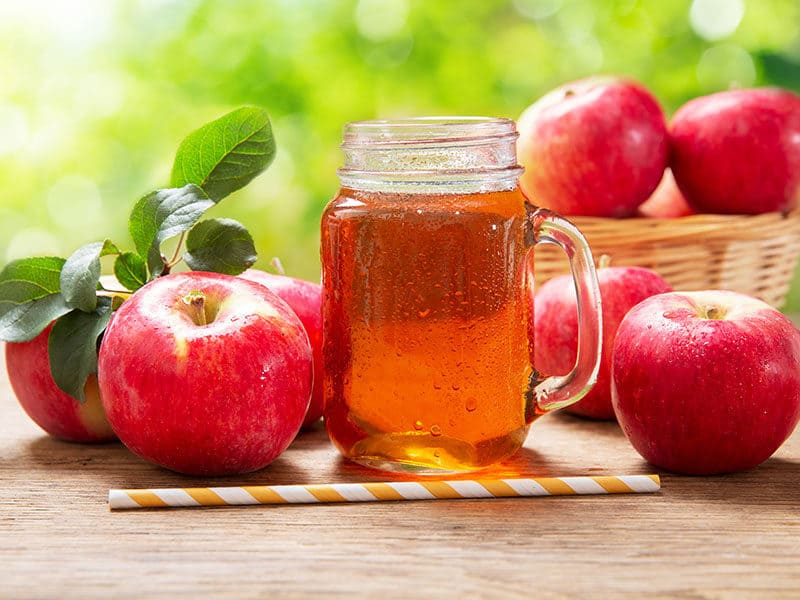 Glass Jar Apple Juice Fresh