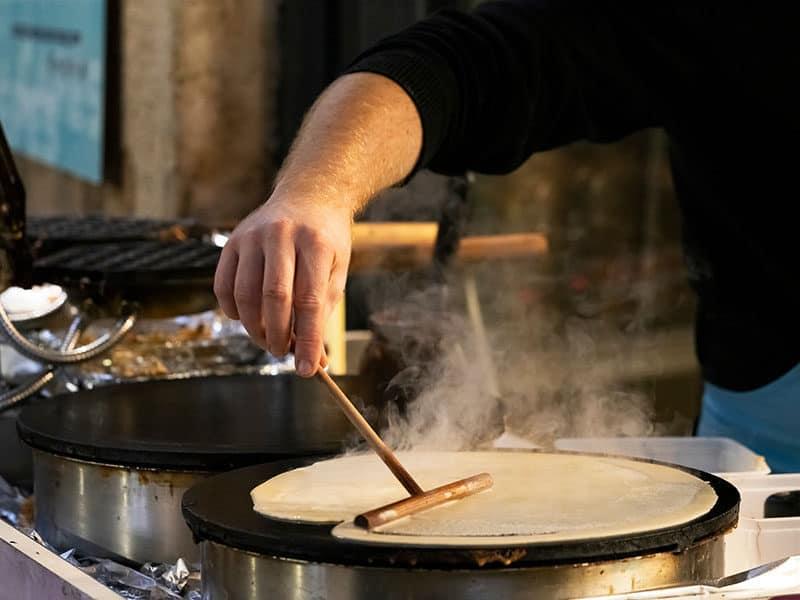 Making Crepe Pancake