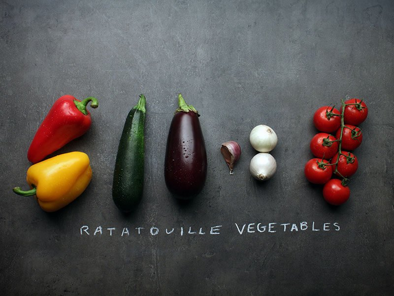 Fresh Vegetable Ingredients Ratatouille