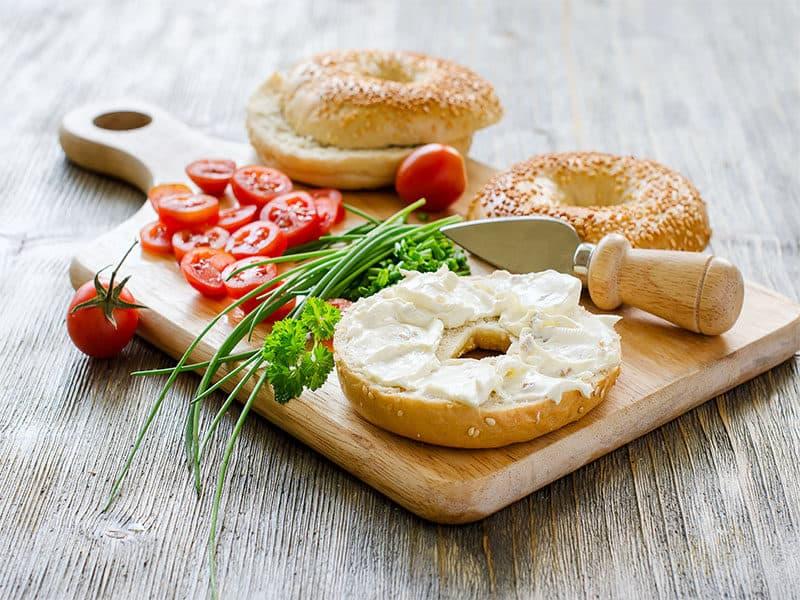 Bagels Sandwiches Cream