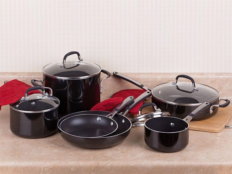 Black Aluminum Cookware