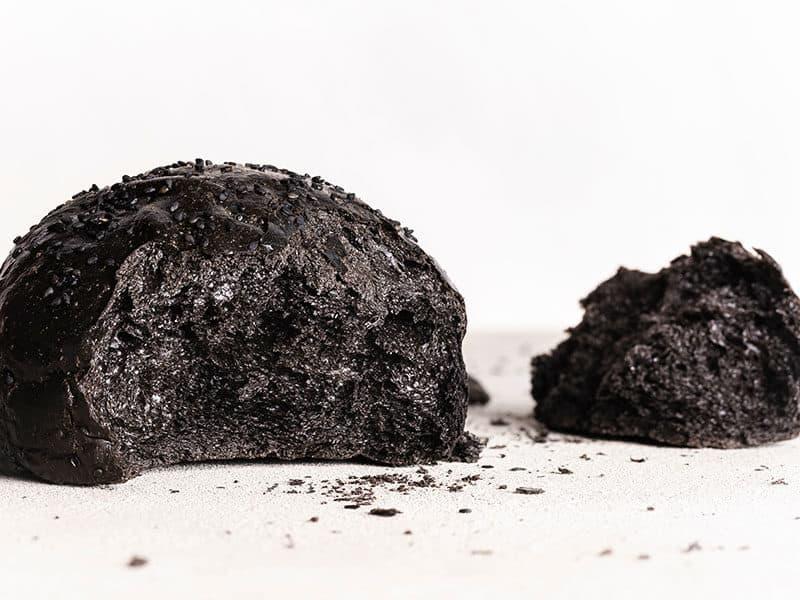 Black Bread Roll Closeup