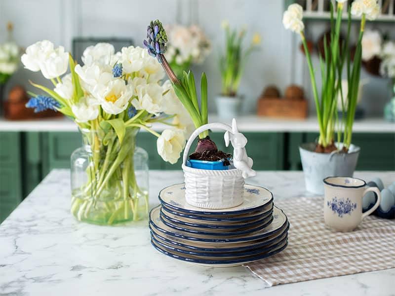 Bouquet Flowers Vase Porcelain