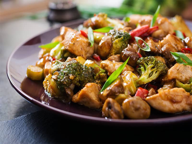 Chicken Mushrooms Broccoli Peppers
