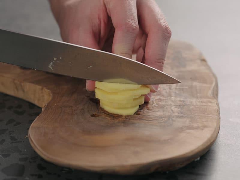 Chopping Fresh Ginger