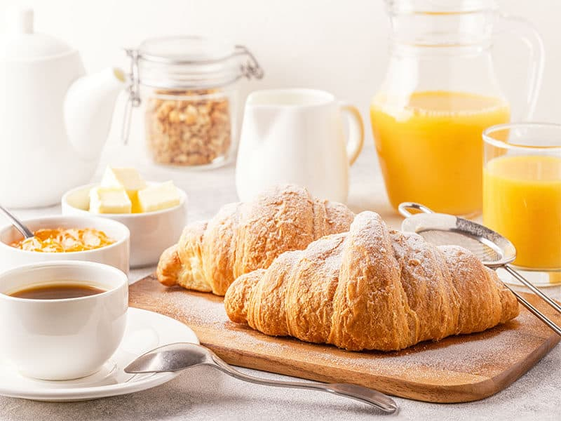 Croissants Orange Juice