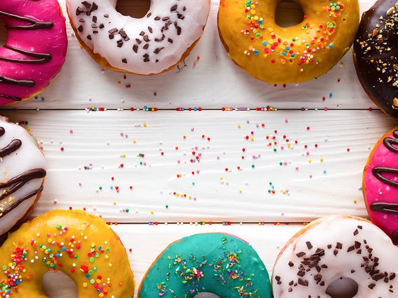 Donuts on Wooden