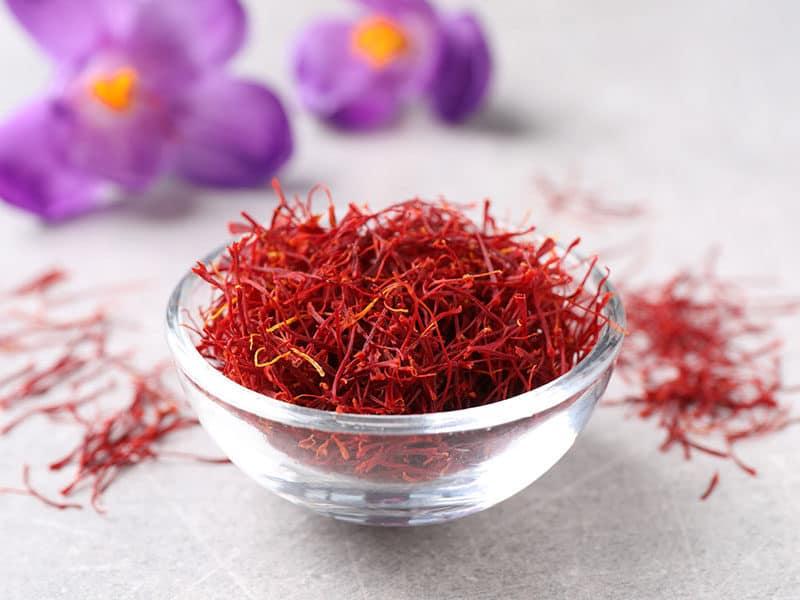 Dried Saffron Crocus Flowers