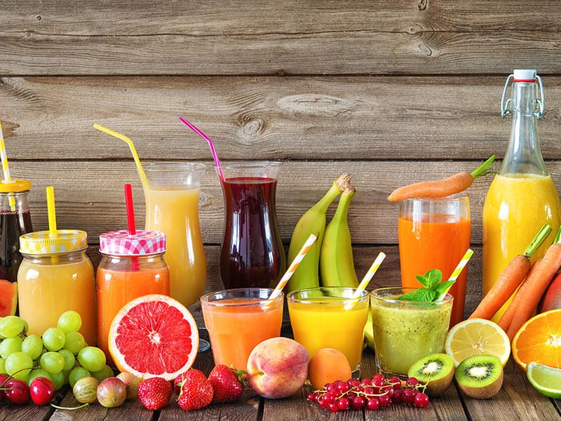 Freshly Squeezed Fruits Vegetables Juices