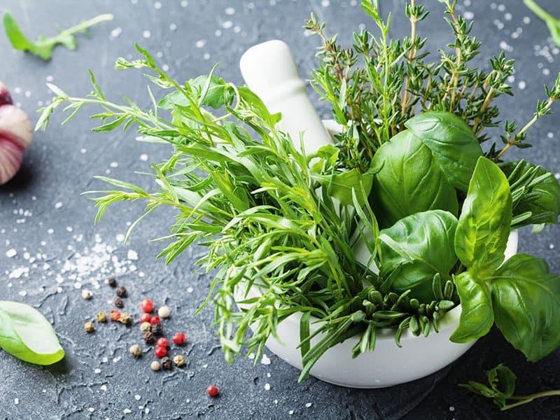 Garden Herbs Mortar