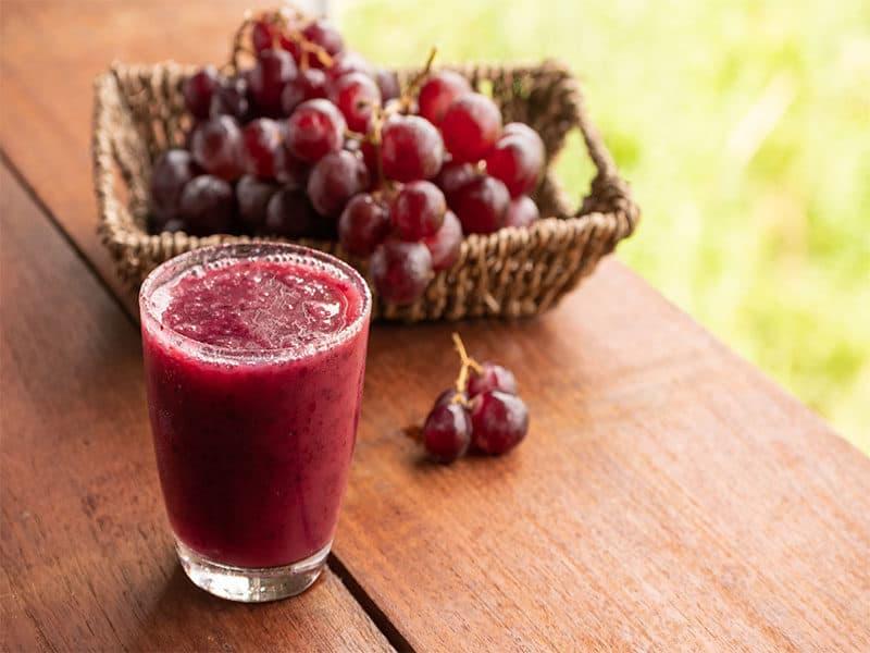 Glass Grape Juice Smoothie