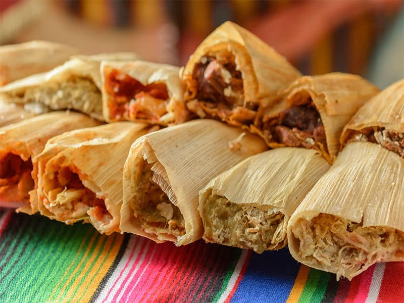 Mexican Food Dishes Tamales