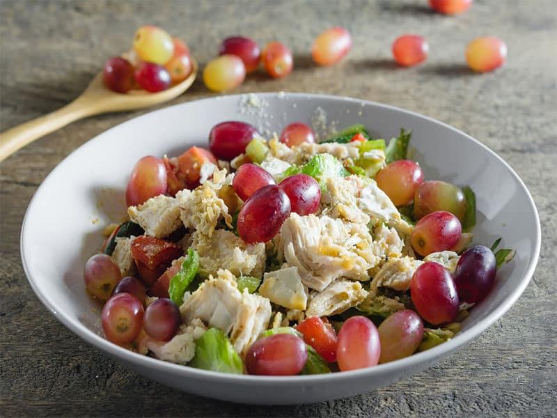 Mix Salad Grapes Chicken