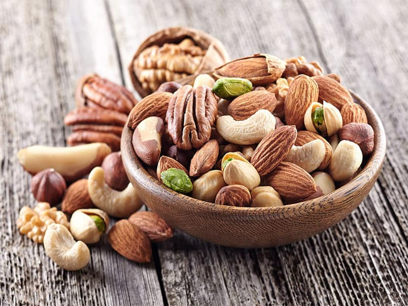 Nuts Mix Wooden Plate