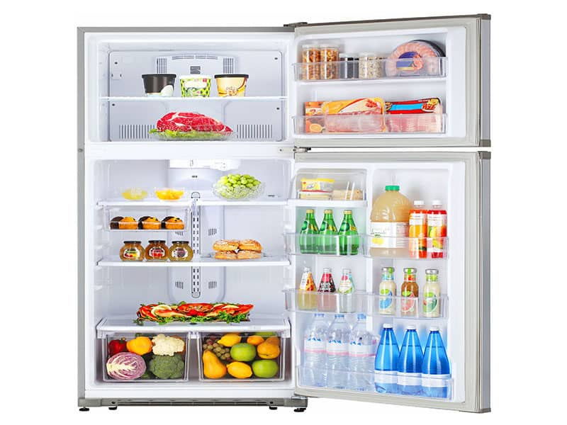 Open Refrigerator Food Isolated