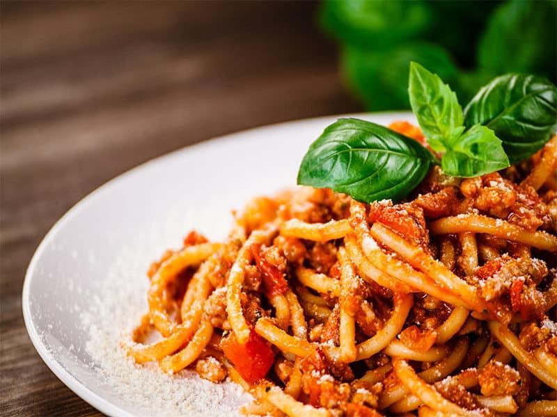 Pasta Meat Tomato Sauce