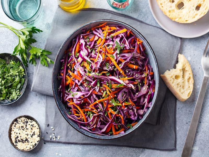 Red Cabbage Salad Coleslaw
