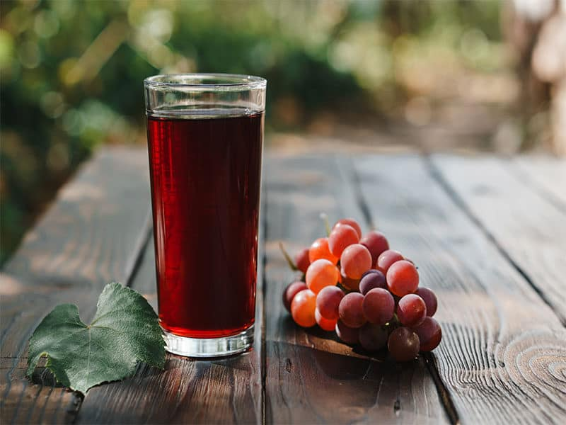 Red Grapes Glass Grape Juice