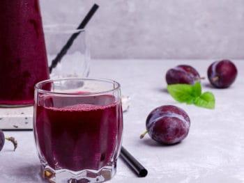 Red Plum Juice Glass