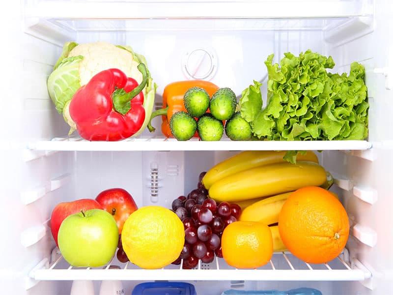 Refrigerator Food Stock