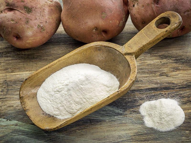 Scoop Potato Flour Row