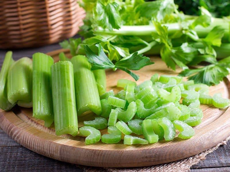 Sliced Fresh Celery