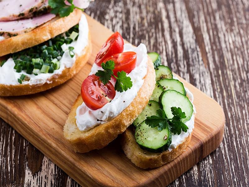 Vegetarian Sandwiches Cream Cheese
