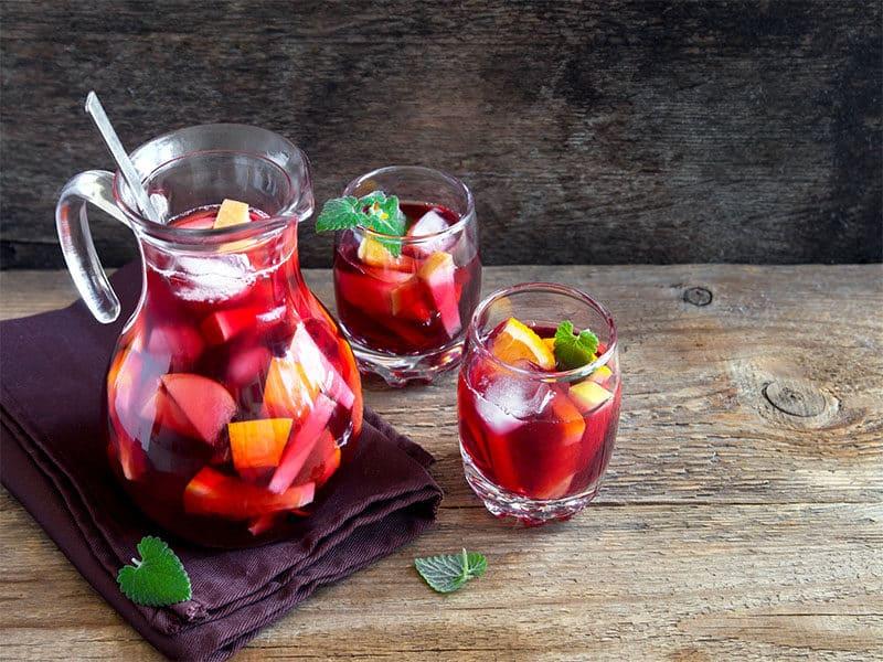Wine Sangria Fruits Ice