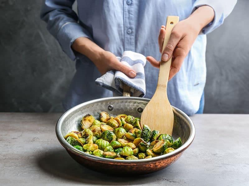 Woman Frying Pan Roasted