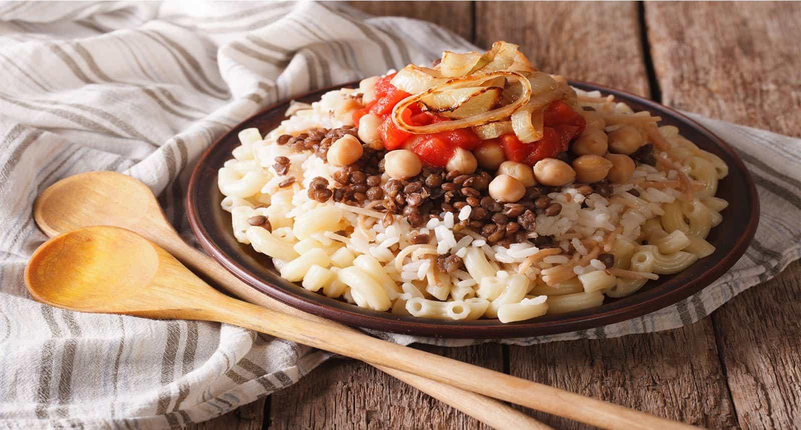 Arabic Cuisine Kushari Rice