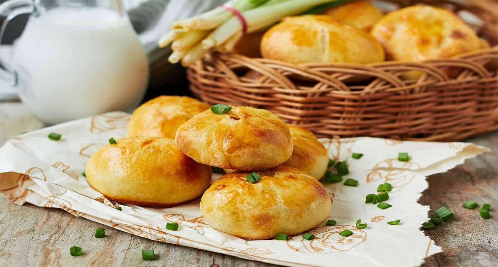 Baked Pasties Potatoes Onions