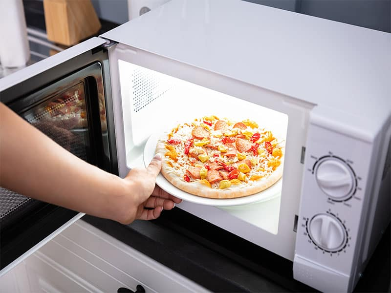 Baking Pizza Microwave