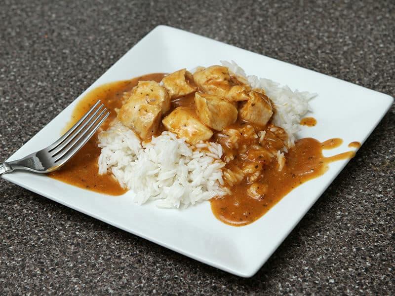 Chicken Marsala with White Rice