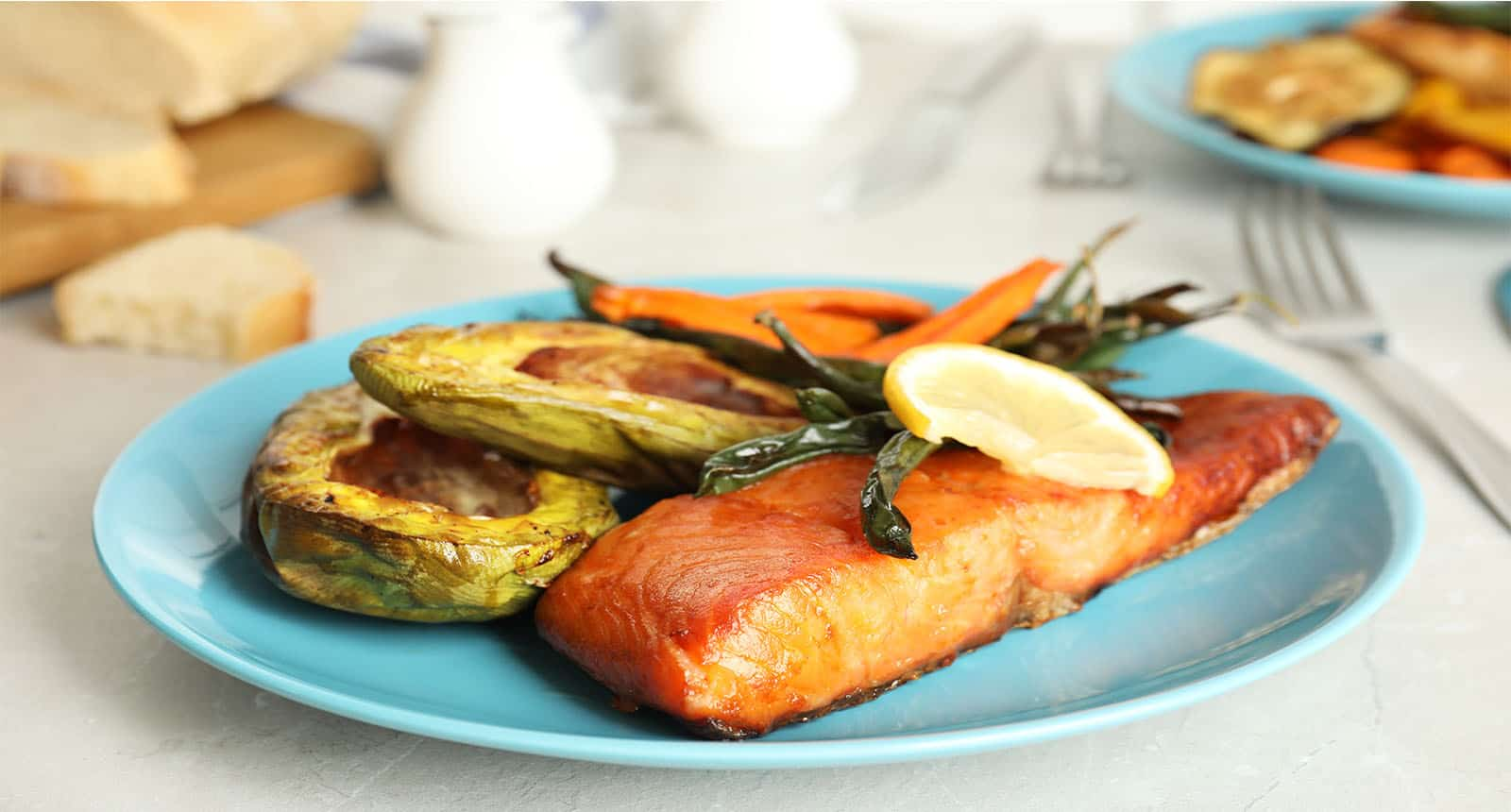 Delicious Cooked Salmon Vegetable