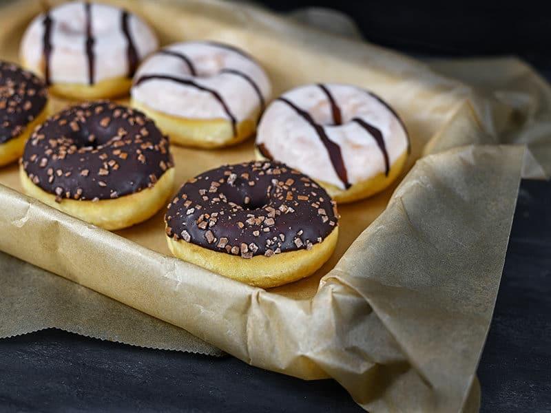 Donut White Brown Chocolate