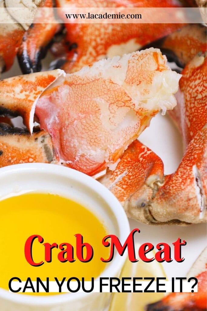 Freeze Fresh Crab Meat