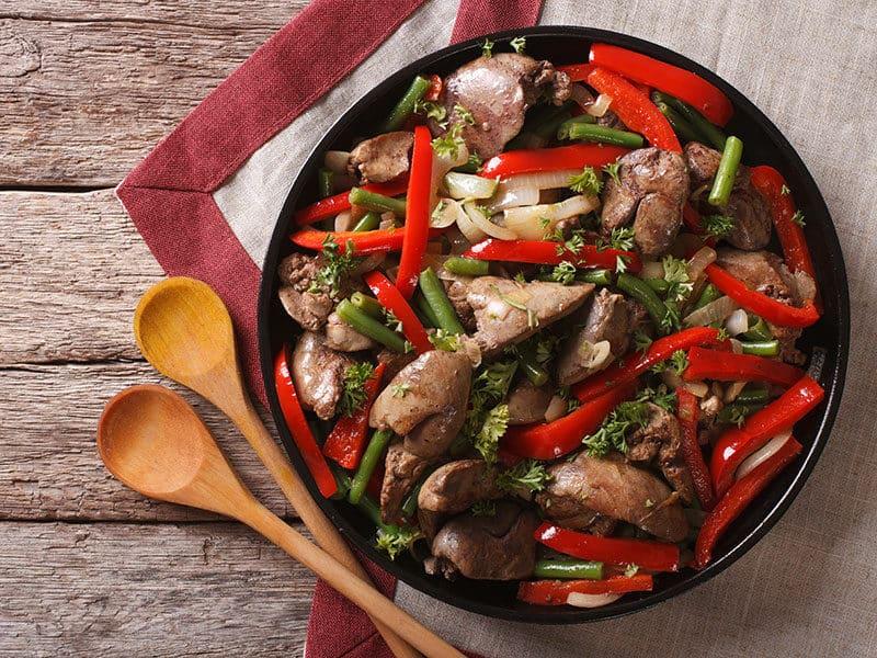 Fried Chicken Vegetables