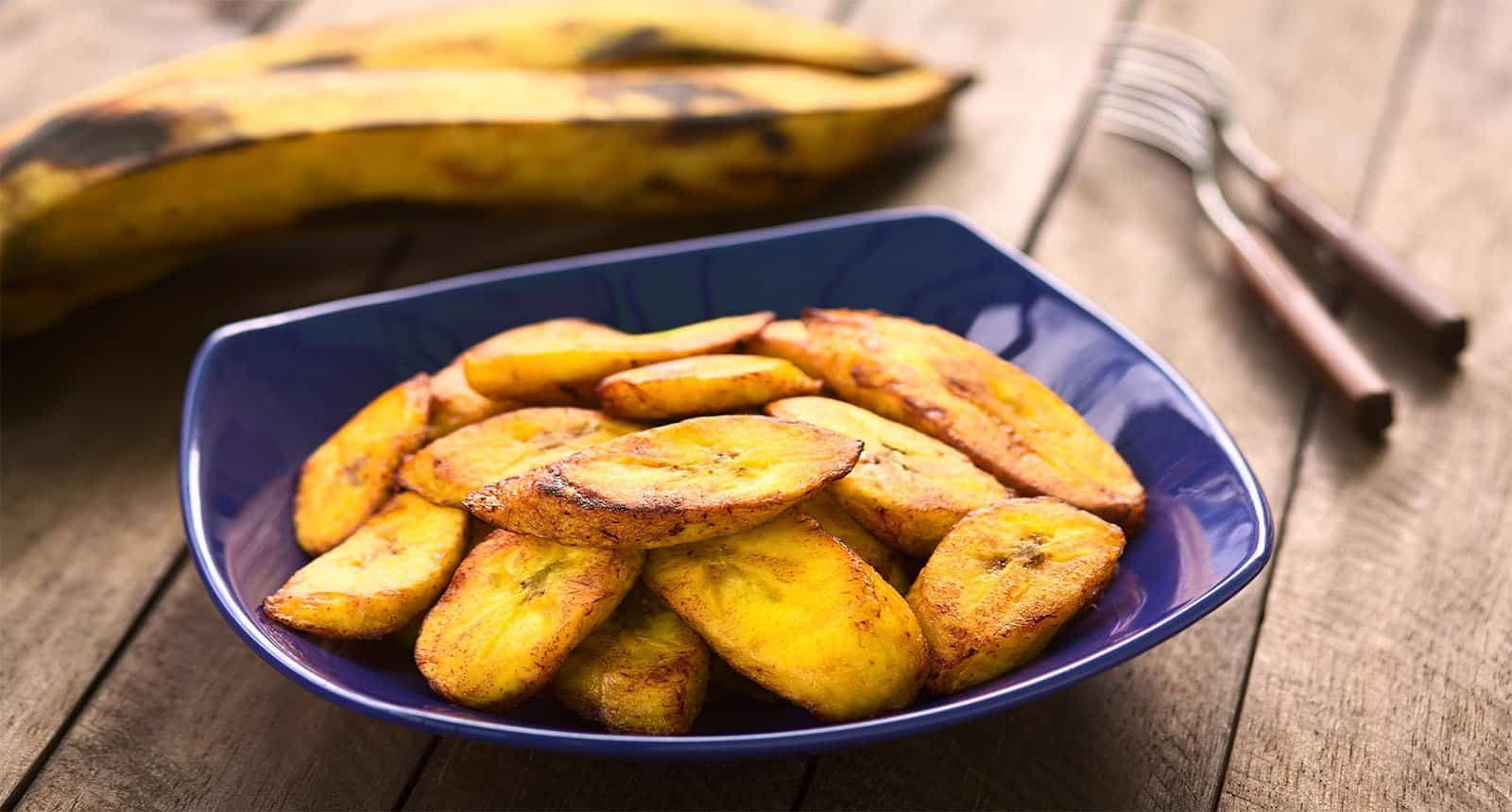 Fried Slices Ripe Plantain