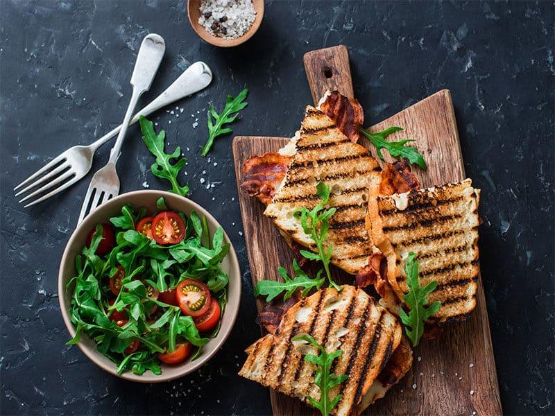 Grilled Bacon Mozzarella Sandwiches