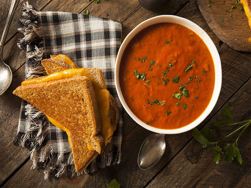 Homemade Grilled Cheese Tomato Soup