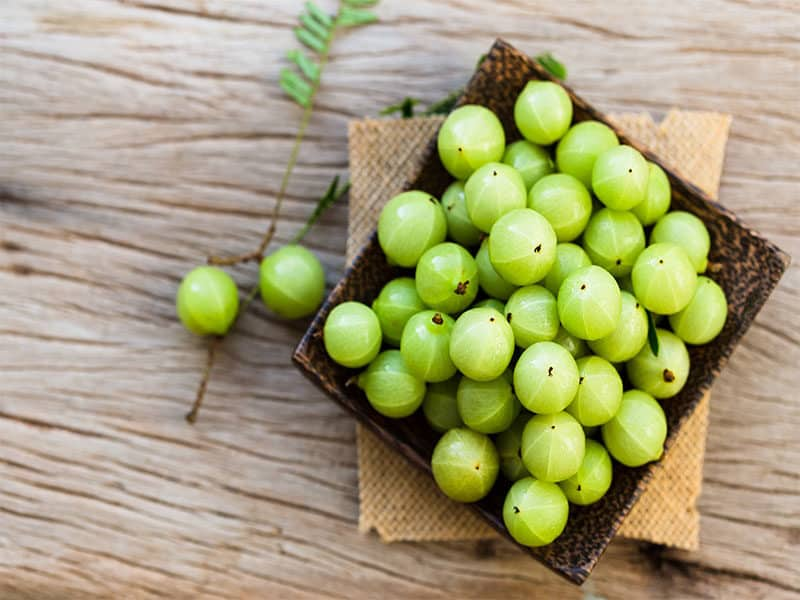 Indian Gooseberry On Wooden