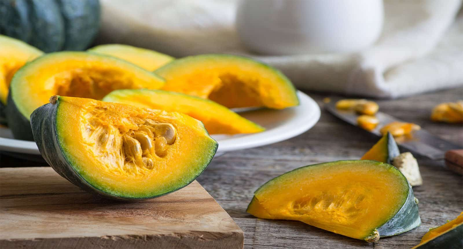 Japanese Pumpkin Sliced