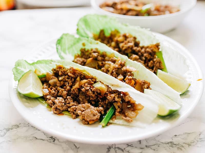Lettuce Wraps Beef